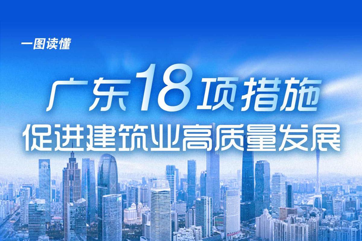 一图读懂广东省促进建筑业高质量发展的若干措施